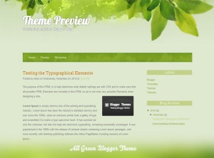 all-green-blogger-theme-post